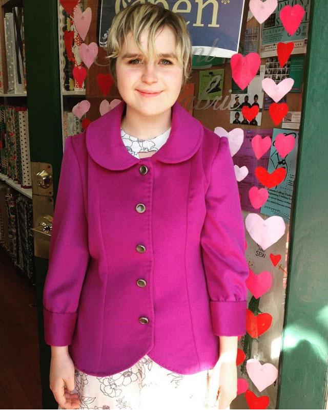 Cashmere Abbey coat from Jamie Christina Pattern Company
